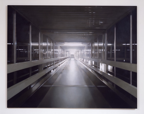 Paul Winstanley, Night Walkway 3, 2005, Oil on canvas, 75 x 95 1/2 in.