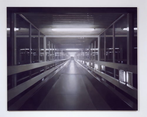 Paul Winstanley, Night Walkway 4, 2005, Oil on canvas, 75 x 95 1/2 in.