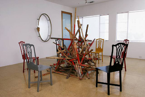 Forgotten Interior Design Problems in LA (El Pueblo del la Reina de Los Angeles), Installation view, 2004