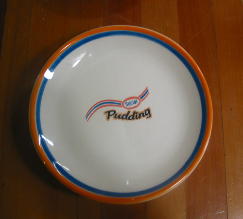 Rirkrit Tiravanija & SUPERFLEX, Social Pudding Plates, 2003, 6 Ceramic plates