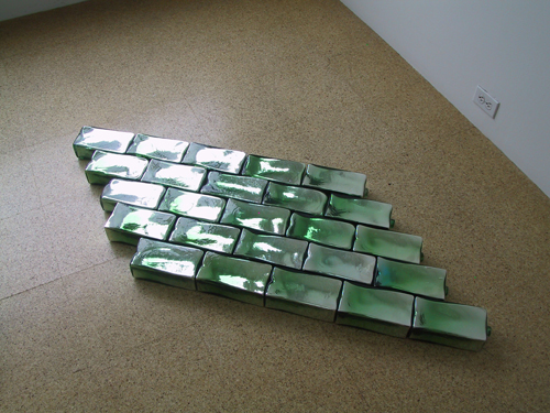 Pae White, White Gimlet, 2003, Blown glass bricks