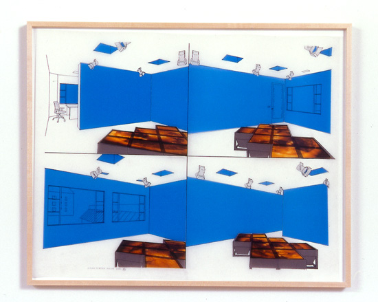 Diane Thater, 1301PE#4, 2001, Ink on mylar with pantone and inkjet prints, 25 1/2 x 31 1/2 in.