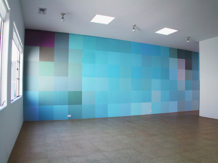 Angela Bulloch, installation view, 2001