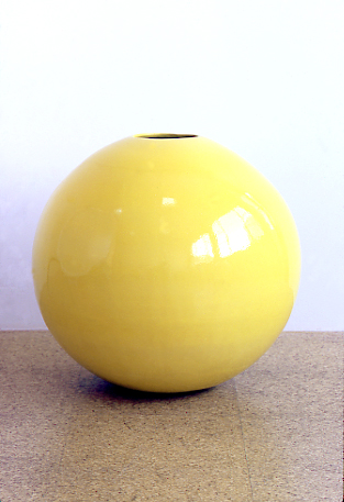 Jorge Pardo, Pots, 1997-99, Glazed ceramics, 25 in. diameter