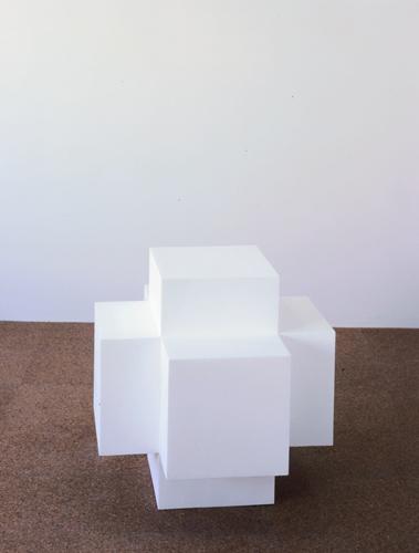 Fiona Banner, Gill Sans Condensed, 1998, Polystyrene, 24 x 24 x 24 in (61 x 61 x 61 cm)