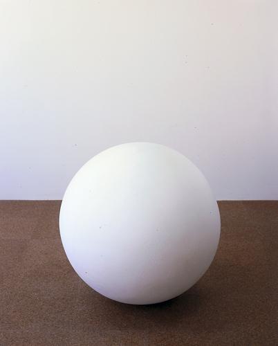 Fiona Banner, New Century Schlibk, 1998, Polystyrene, 24 in diameter (61 cm diameter)