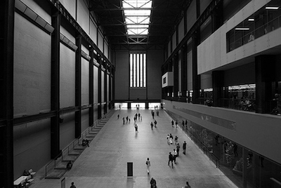 Visitors in Turbine Hall.