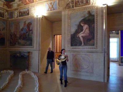 Daily practice, tuning, performance piece, Castello di Rivoli performance, 2009