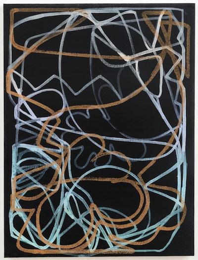 Blake Rayne, Untitled, 2013, acrylic & walnut shell on canvas, 24 x 18 inches