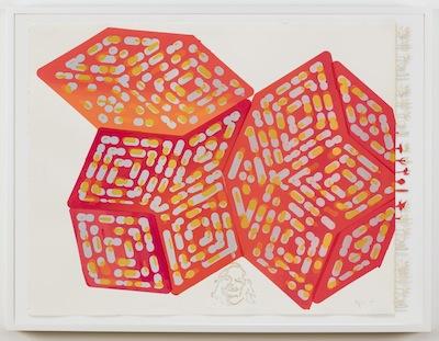 Jorge Pardo,  Verdical , 2015, silkscreen on paper