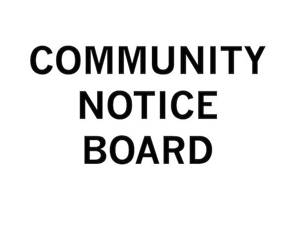 Fiona Connor, Community Notice Board, 2015, Exhibition Poster