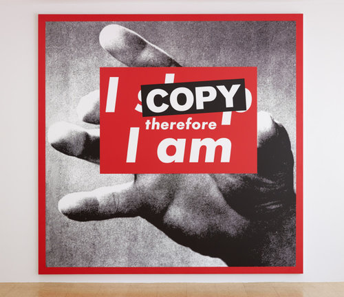 SUPERFLEX, I Copy Therefore I Am, 2009, Photo print on vinyl, 287 x 282 cm.