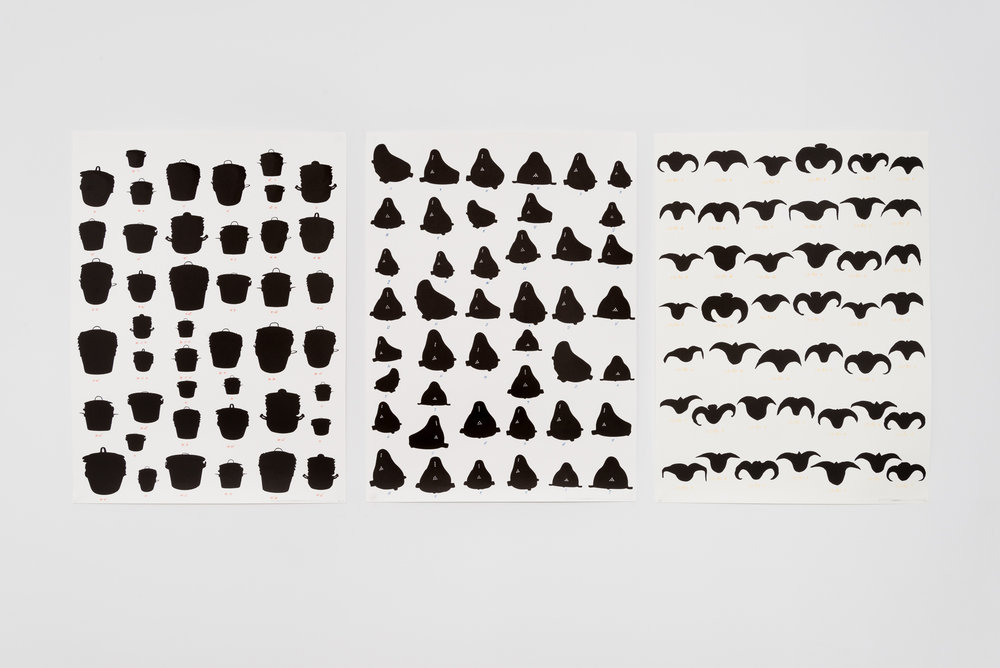"Rirkrit Tiravanija, ""Untitled,"" 2014, Lithograph, 45 x 33 inches each, Edition of 35"