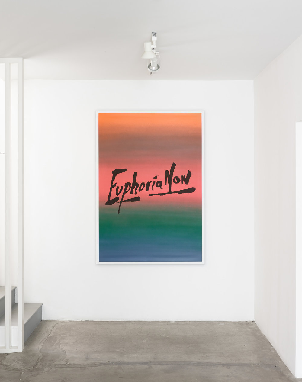 "SUPERFLEX, ""Euphoria Now, Hong Kong Dollar,"" 2017, Spray enamel and acrylic on canvas, 67 x 47 inches."