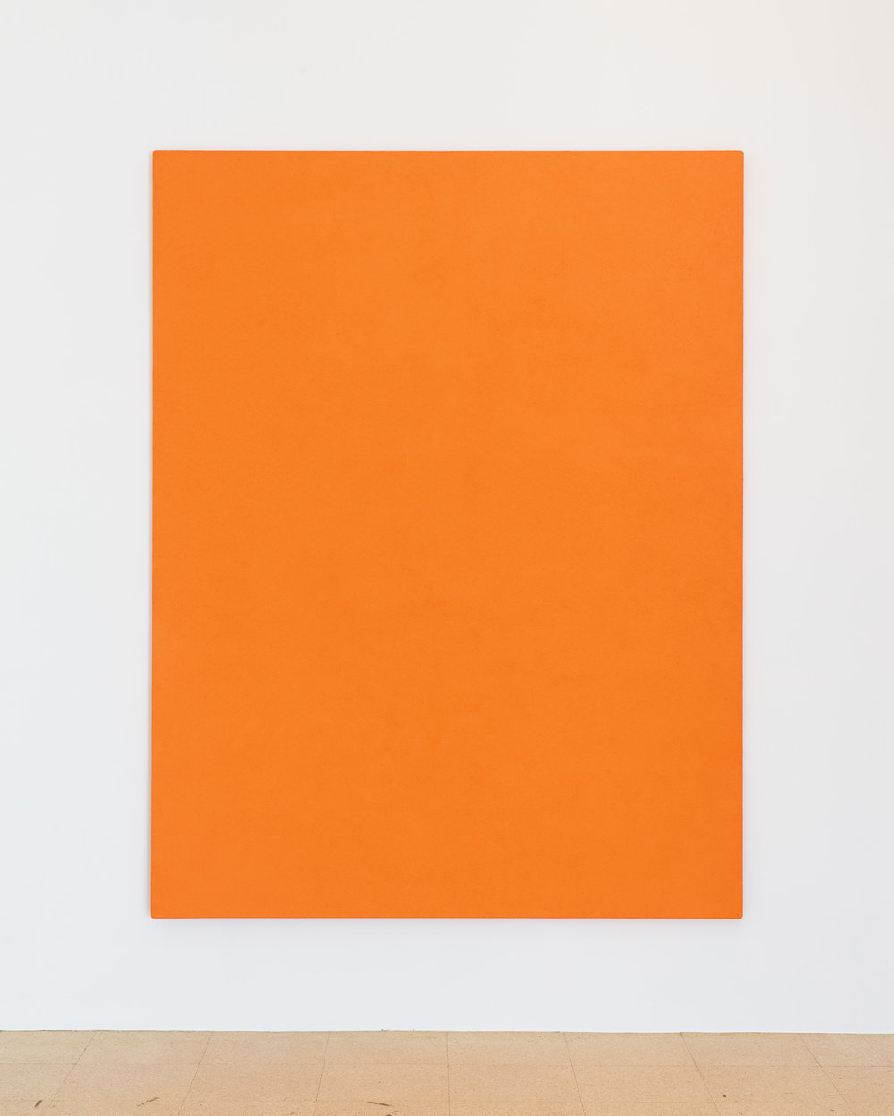 "SUPERFLEX, ""SUPERFLEX on canvas,"" 1995/2013, Dry orange pigment, polymer medium on cotton over plywood, 78.35 x 60.24 inches, Edition of 3."