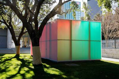Ann Veronica Janssens's 'Blue, Red and Yellow' (2001). PHOTO: KEVIN TODORA/NASHER SCULPTURE CENTER