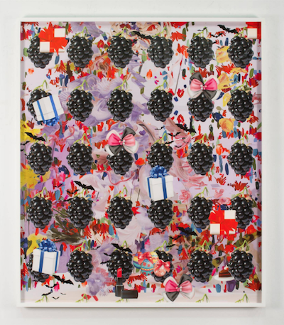 Petra Cortright, 30 cal M-1 screen savers, digital painting on Sunset Hot Press Rag paper, 2015.