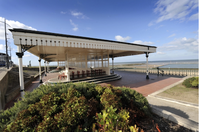 Shelter overlooking Margate Sands. Image: Thanet District Council