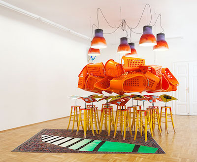 Jessica Stockholder Installation, 2016.