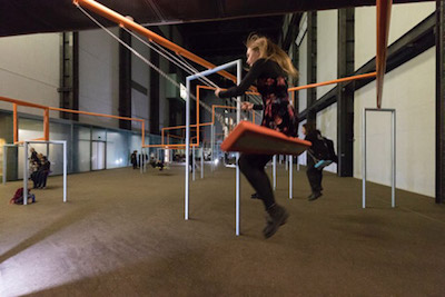 SUPERFLEX,  One Two Three Swing!  Installed at Tate Modern, 2018.