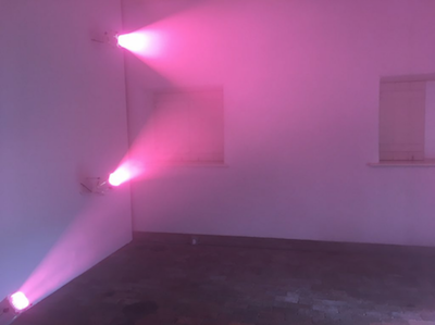 "Installation view, Ann Veronica Janssens, ""Fog Star"", 2018."