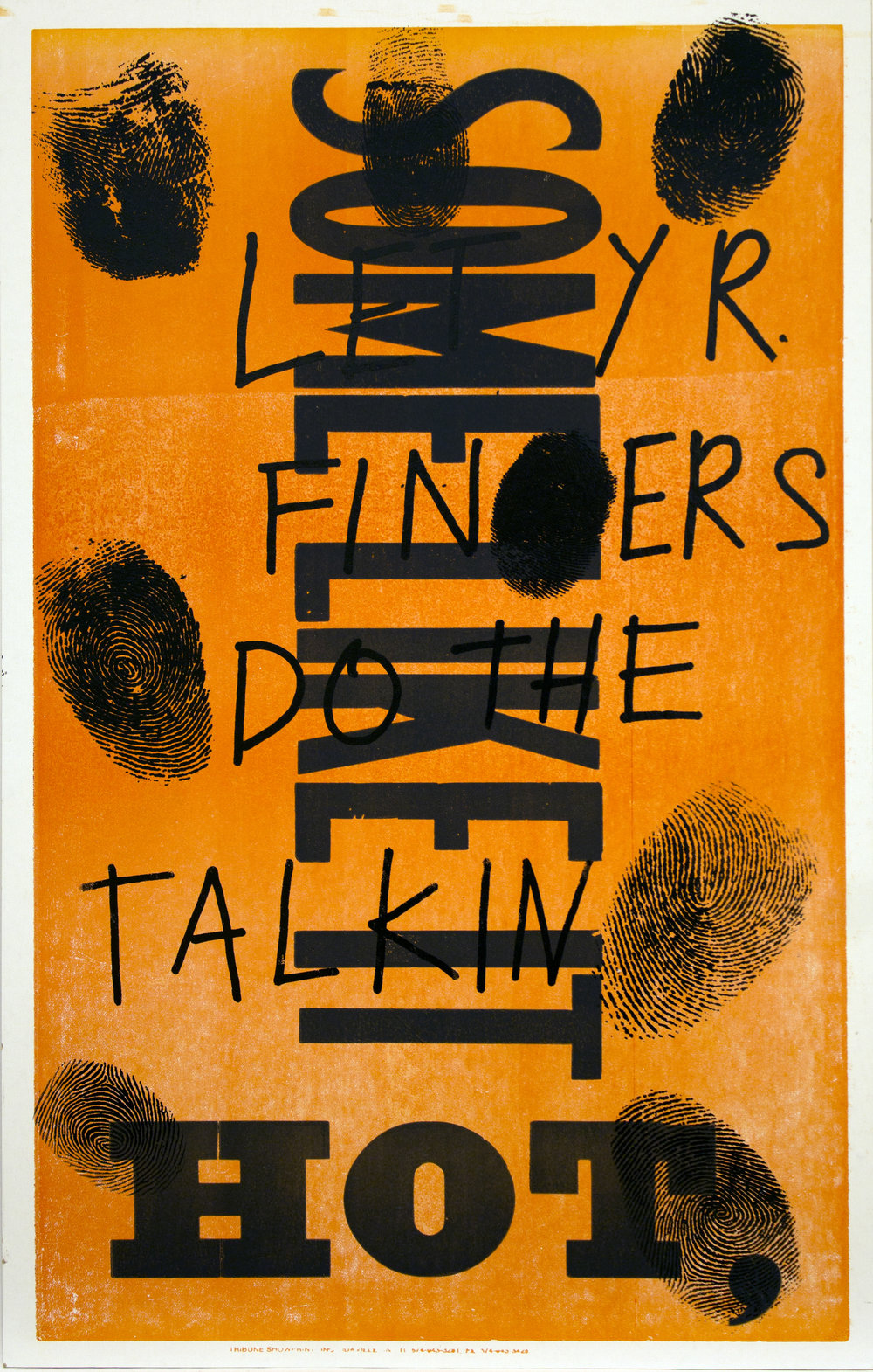 Christopher Michlig and Jan Tumlir,  The Scene of the Crime (SOME LIKE IT HOT,) , 2017. Silkscreen and letterpress on poster board, 14 x 22 inches