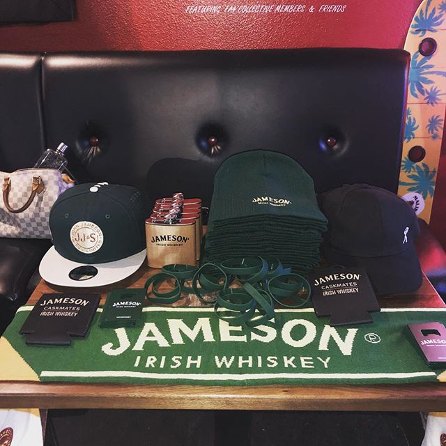 @jameson_us is in the house for the next few hours. Free shwag while it lasts and samples of your favorite Irish whiskey!