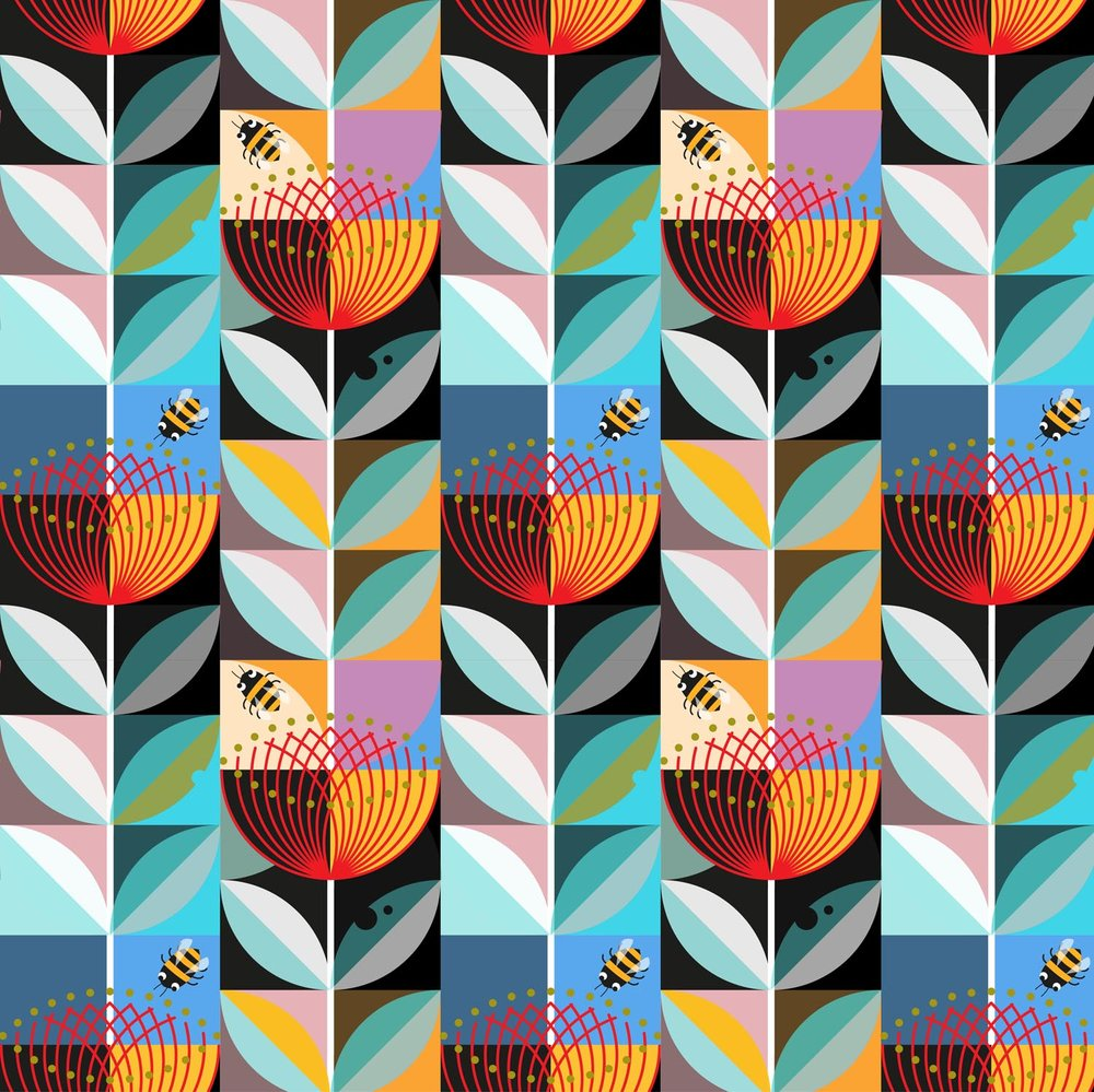 Pohutukawa Flower pattern 2