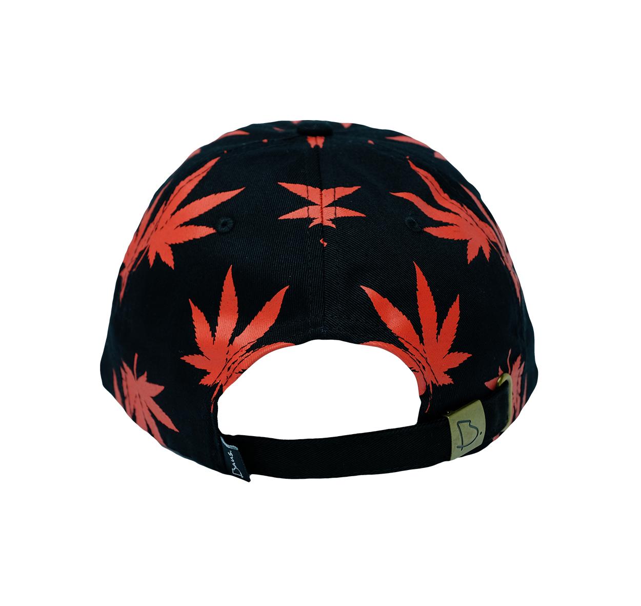 bc985dad9f Black   Red Hemp Dad Hat
