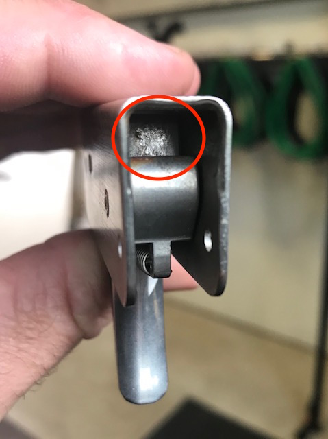 Galling - This is caused by two metal surfaces rubbing together and can make the trigger very hard to pull due to excess friction.
