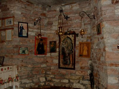 Inside the museum of St. Kosmas