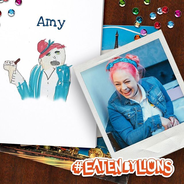 Omar's sketch of Amy 👨🏼‍🎨 @hoare.sarah what do you think? 🎬 #eatenbylions