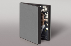 STYLISH PRESENTATION BOX  Your book will definitely make a great first impression with this stylish clamshell presentation box. It's pretty practical too for protecting and storing your precious book.