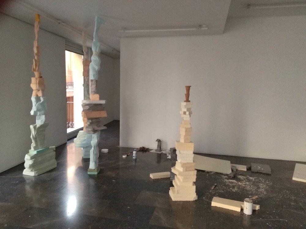 2018 installation process at Luis Adelantado Gallery, Valencia ES