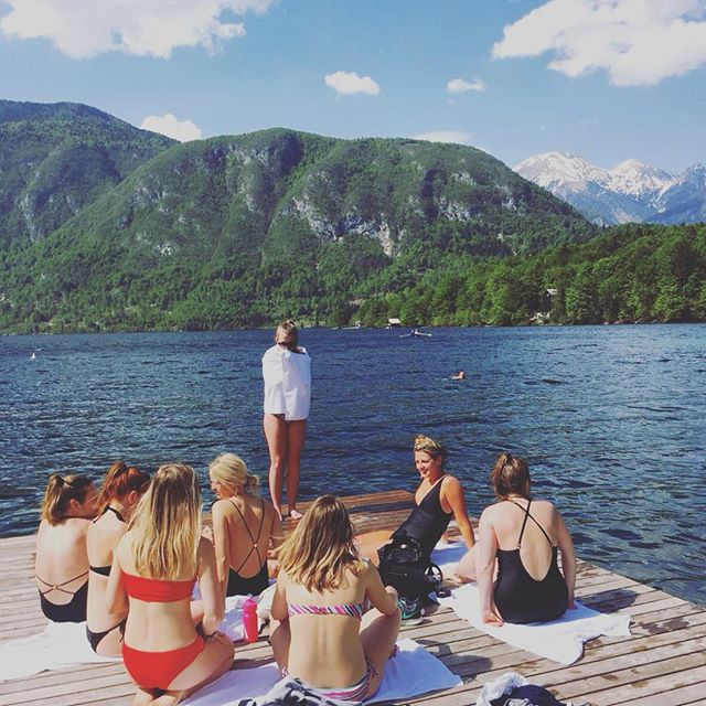 Lakeside in Slovenia with the most wonderful bunch 💙 sometimes a few days off with friends is the best remedy in the world ✨
