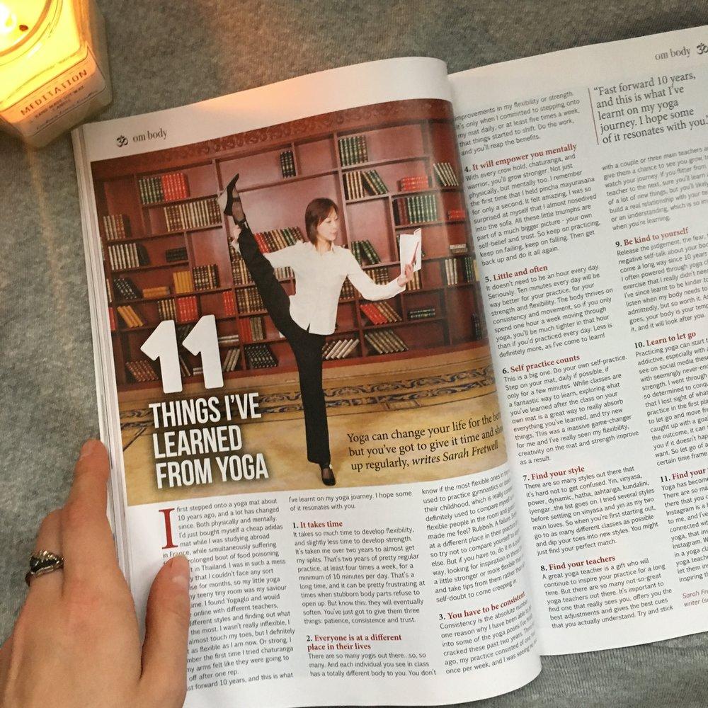 November 2018 issue of OM Yoga Magazine