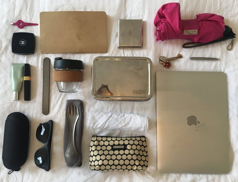 The above are my staples for a zero waste handbag.