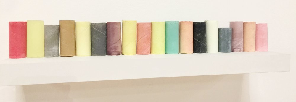 Rachel Whiteread: Coloured objects 2007-8