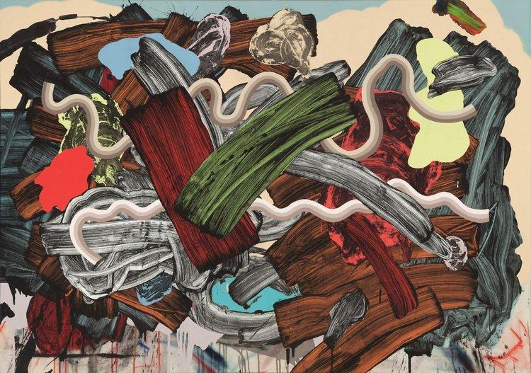"LAKE LOUIS 2 mixed media on canvas 38"" x 54"""
