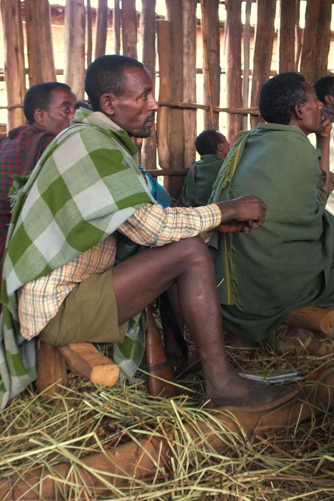 Skogsägare som deltar i en utbildningsdag ordnad av kooperativet i Mecha i Etiopien.