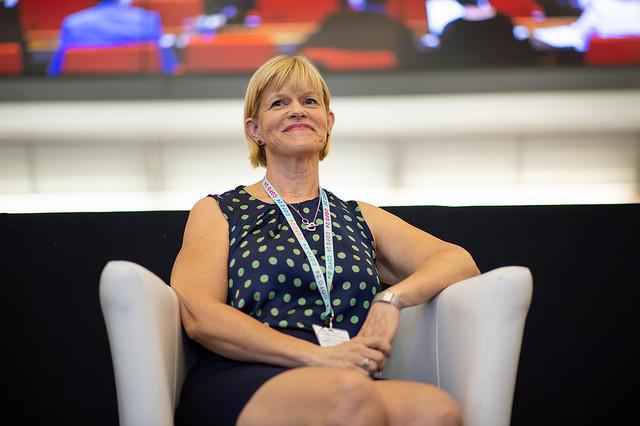 FFD:n ohjelmajohtaja Tiina Huvio viime perjantaina Roomassa. Kuva: Pilar Valbuena/FAO