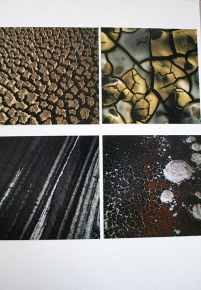 Images taken from Earth song (left to right, top to bottom) Dried clay Mojave Desert USA Dried bed of the Swakop river Namibia Malaspina Glacier USA  Salt Swamps North Tanzania