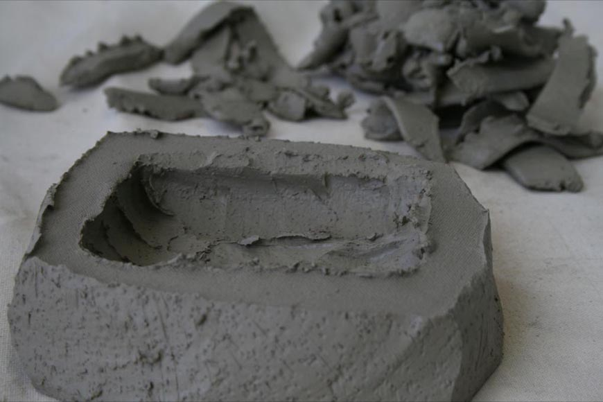 Stoneware hollow test model