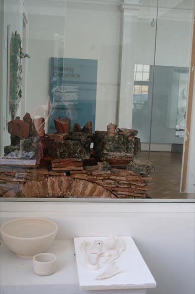 """View of ceramics gallery from the kiln room"""" title=""""View of ceramics gallery from the kiln room"""