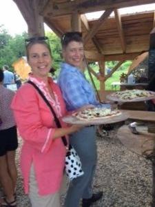Melissa and Jodi at Pizza Nigh t