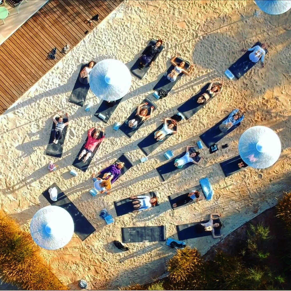 Peace: Sunrise yoga with the Renew Life team at Can Na Xica