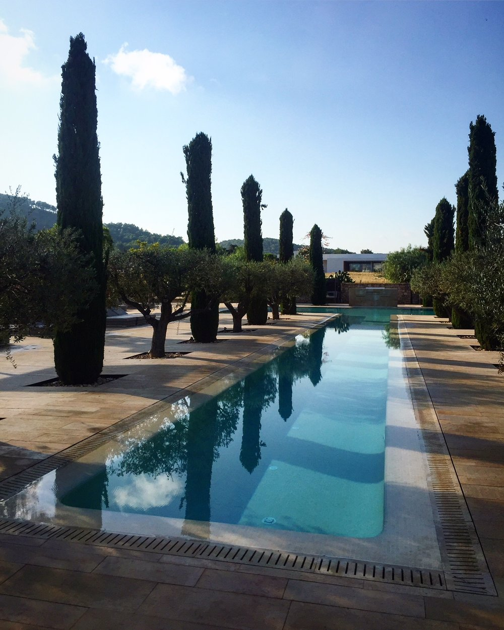 Lap pool: The hotel combines five-star style with the island's boho vibe