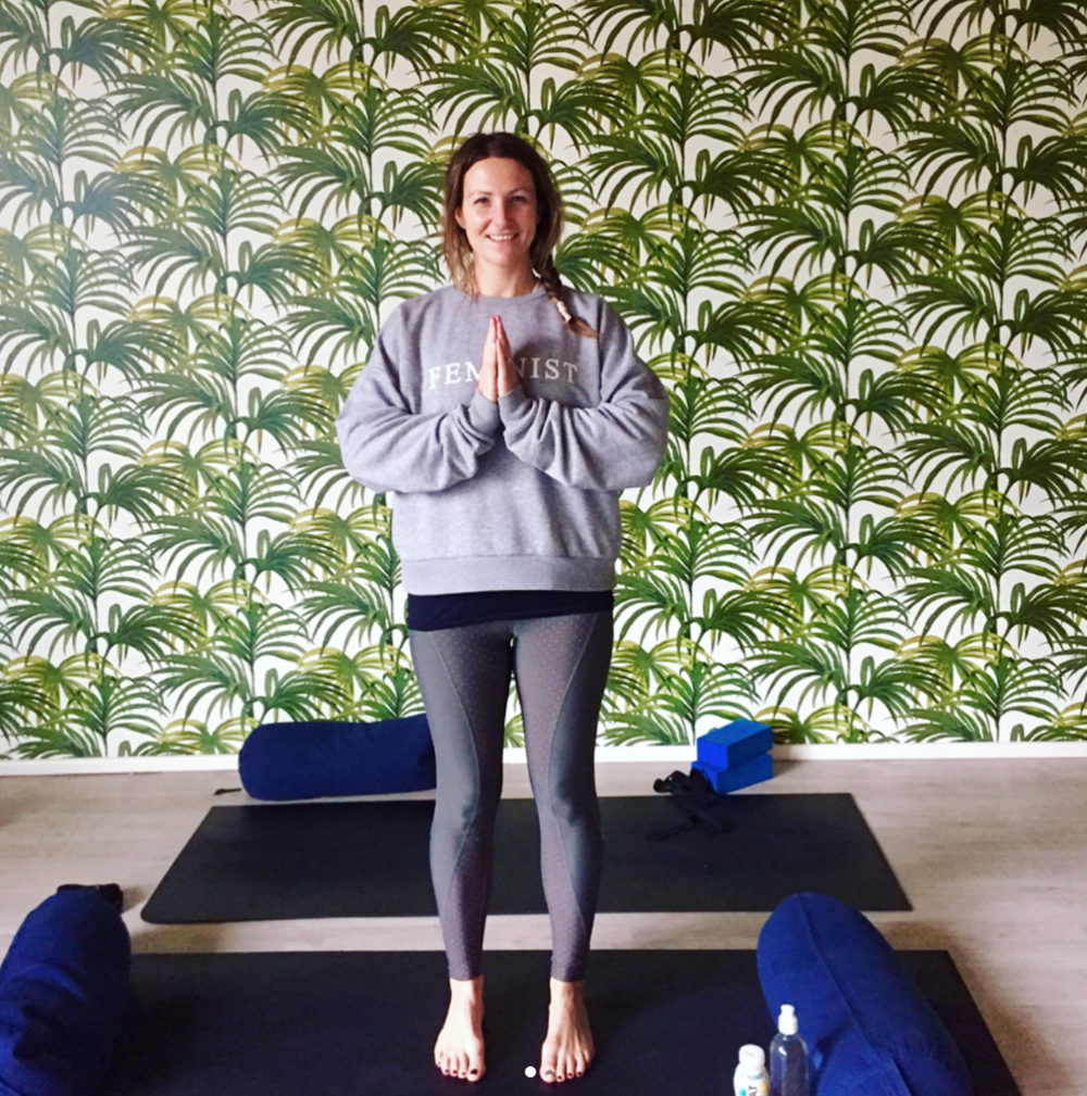Move your frame: Trying out Anti-Desk Yoga at the Upbeat protein drink launch this week