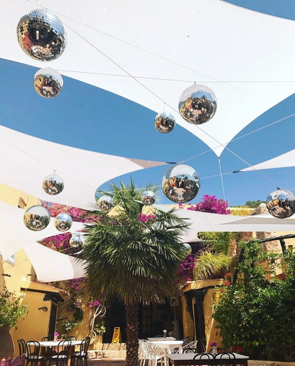 Pikes: Every dining room should come with glitter balls, palm trees and blue skies