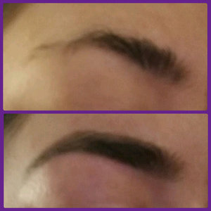 henna brow-before and after-pictures